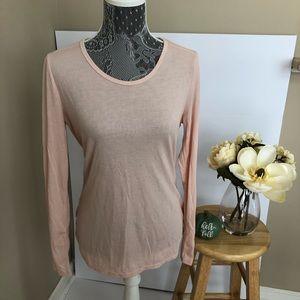Women's Pink Long Sleeve T Shirt Size M